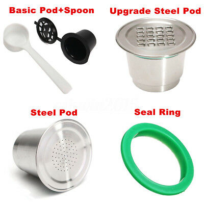 Stainless Steel Reusable Coffee Metal Capsule Accessories For Nespresso Machine