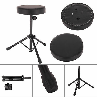Foldable Music Guitar Keyboard Drum Stool & Throne Piano Chair Padded Seat Set