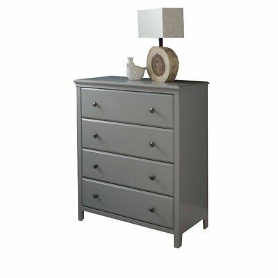 South Shore Cotton Candy 4-Drawer Chest in Soft Gray Transitional Baby Dresser