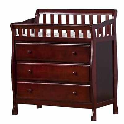 Dream On Me Marcus Changing Table and Dresser Cherry Baby Tables in