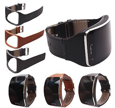 Genuine Leather Watch Band Strap Bracelet For Samsung Gear S SM-R750 Wristband
