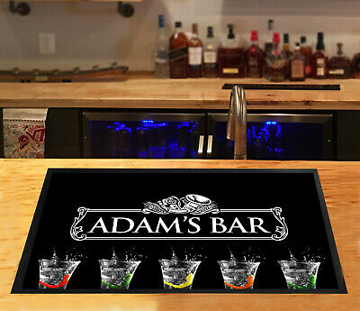 Personalised White label Shots bar runner Pubs & Cocktail Bars Bar Mat