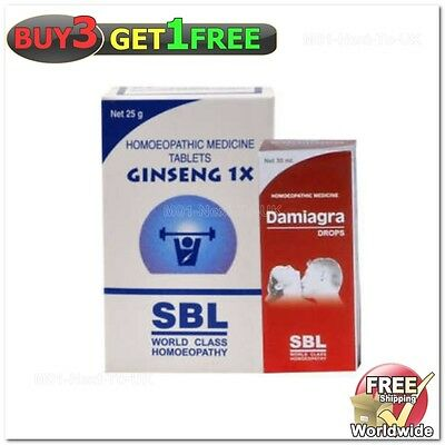Sbl'S Male Sexual Wellness Damiagra Drop and Ginseng 1 x table(BUY 3 GET 1 FREE)