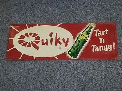 RARE Vintage Quiky Cola Embossed Sign Stout  Antique Beverage Drink