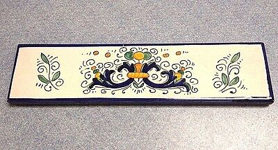 Deruta Pottery-2x7,7/8 Inch Tile Ricco-Made/painted by hand In Italy.