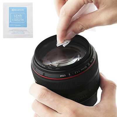 100pcs Pre-Moistened LCD Screen Glasses Optical Lens Camera Cleaning Wipe