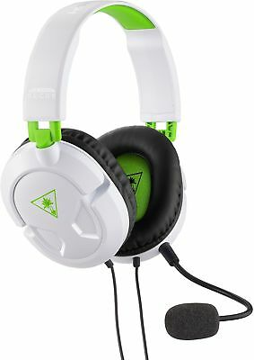 Turtle Beach Recon 50X White Stereo Gaming Headset Headphones Xbox One Refurb...