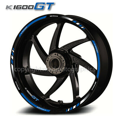 BMW Motorsport K1600GT motorcycle wheel decals rim stickers stripe k1600 GT blue