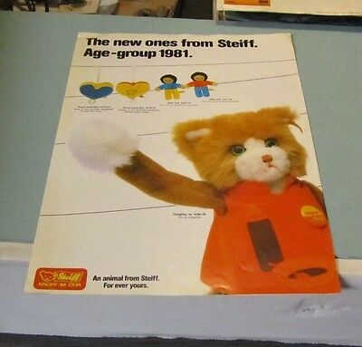 1981 Margarete Steiff New Ones Animals Toy Catalog For Ever Yours Age Group 1981