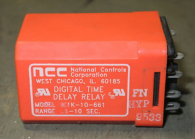 NCC//National Controls K1K-00005-661 K1K00005661 Time Delay Relay NEW