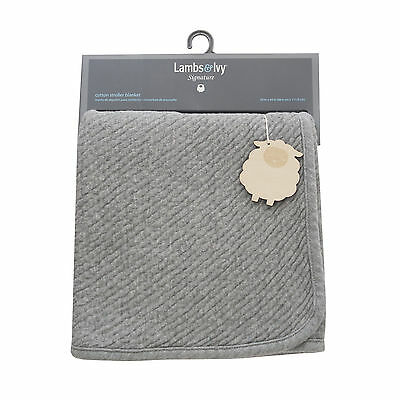Lambs & Ivy Signature Mix & Match Heather Gray Stroller Blanket