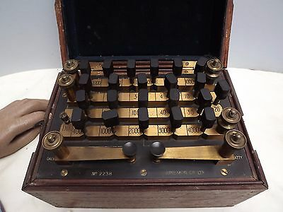 RESISTANCE BOX (Mahogany Cased) Lacquered Brass ( APP ) C1900