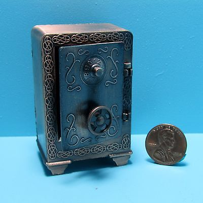 Dollhouse Miniature Metal Safe For Store or Bank ~ DDL9638