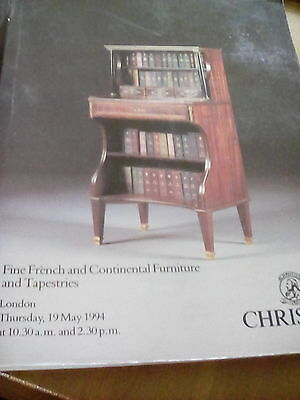 Christie's Auction Catalogue 1994 French Continental Furniture Amazing Tapestrie