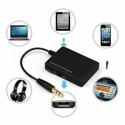 3.5mm Jack Aux Wireless Bluetooth 4.0 Audio Stereo Music Receiver Adapter Black