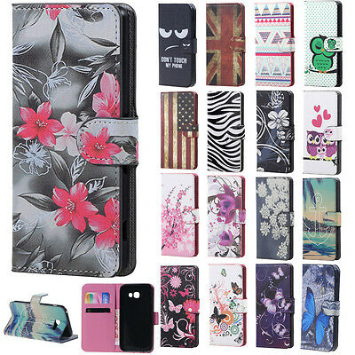 Flip Flower Stand Leather Wallet Card Hard Case Cover For Various Phone