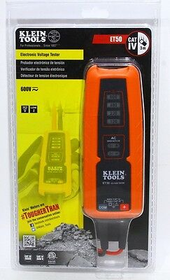 Klein ET50 Voltage Tester  AC/DC Electrical Tester  Klein Tools ET50 Tough Meter
