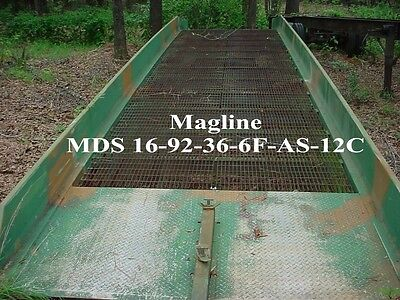 """Magline Mobile Forklift Loading Ramp 92"""" W x 36' L MDS 16-92-36-6F-AS-12C"""