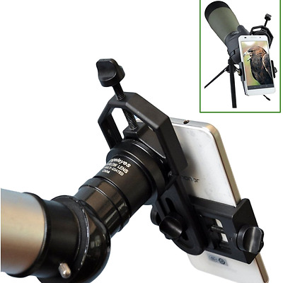 Universal Cell Phone Adapter Mount Binocular Microscope Spotting Scope Telescope