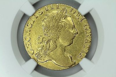 1771 Great Britain Guinea XF Details NGC Graded Certified Gold Coin RARE!! 3G3
