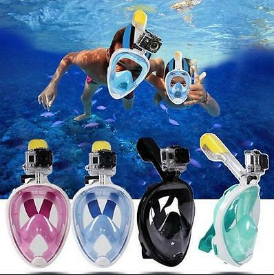 Anti-Fog Swimming Diving Full Face Snorkel Scuba Mask Surface for GoPro S/M/L/XL