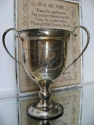 Antique Engraved Silver Plate Loving Cup Trophy St. Charles, Missouri Fair Prize