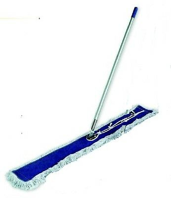 "Dust Mop Kit combo 48"" White  Dust Mop, Wire Frame & Handle"