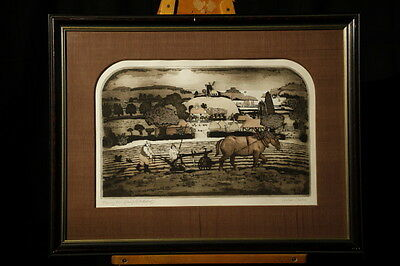 Graham Clarke Hand  Signed In Pencil Original Artist Proof Etching 5.