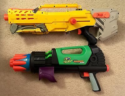 Used Nerf Gun Lot (2) - Not Working - Parts Pieces or Play AS