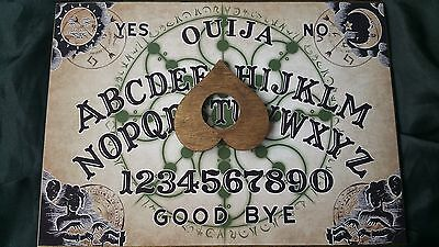 Classic Ouija Board Esoteric Symbols & Planchette & Instructions halloween A3