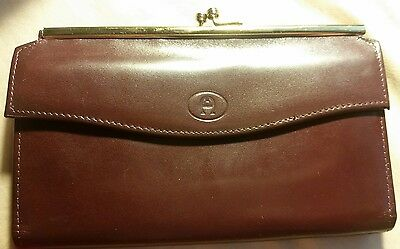 Etienne Aigner Vintage Wallet Chechbook Genuine Leather Clutch Never Used