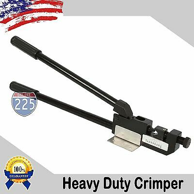 "24"" Heavy Duty 8 - 4/0 AWG Large Gauge Ring Terminal Crimper w/ Mounting Bracket"
