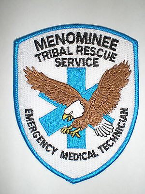 WI Wisconsin Menominee Indian Tribe Tribal Rescue Service EMS Medic Police patch