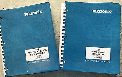 Tektronix 468 Digital Storage O'scope Service/ Instruction Manuals Vol 1 & 2