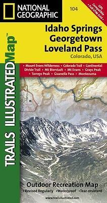 Idaho Springs, Loveland Pass, Georgetown, CO - (Nat Geo) Trails Map (#104)