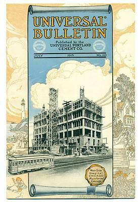 Old 1913 Universal Portland Cement Co Architecture Advertisement Brochure Mailer