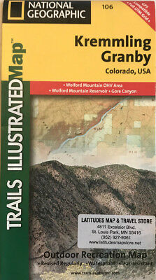 Kremmling Granby, CO - (Nat Geo) Illustrated Trails Map (#106)