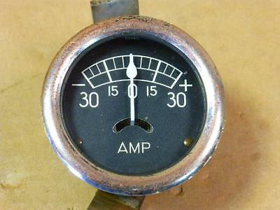 "vintage STEWART WARNER? AMP GAUGE SW Hot Rod Rat  Steampunk ""2 95269 cESSNA"