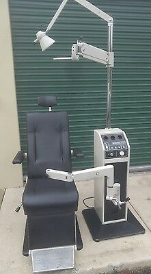 Optometry Optician Chair and Stand BURTON XL3300 Used New Upholstery