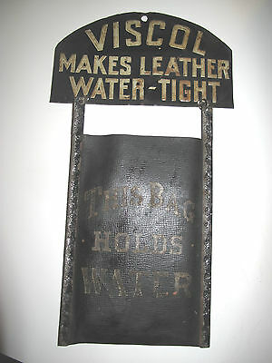 Viscol Sign And Demonstration Bag, Early 20Th C