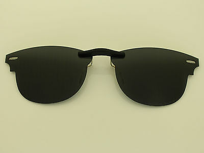 Custom Fit Polarized CLIP-ON Sunglasses For CLUBMASTER RB5154 49X21 5154 Black