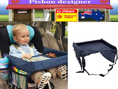 Baby Safety Travel Tray Drawing Board Table Kids Car Seat Snack Waterproof Fixed