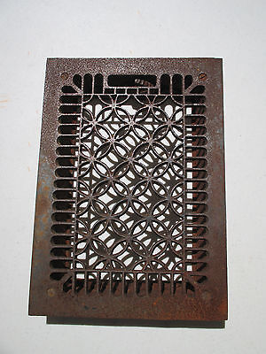 Cast Iron Floor Grate Vent Antique Architectural Salvage Steampunk Vtg Circles