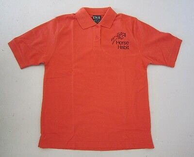Personalised Embroidered Shirt with your choice of Horse Design in ORANGE