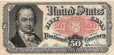 50 Cents FIFTH ISSUE FRACTIONAL CURRENCY FR 1380 - UNC - #968