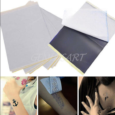 5/ 10Pcs Tattoo Transfer Paper Stencil Carbon Thermal Tracing Hectograph New