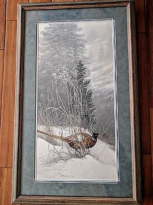 Color In the Snow,, (pheasant), Stephen Lyman, Framed, Limited Edition 273/1500