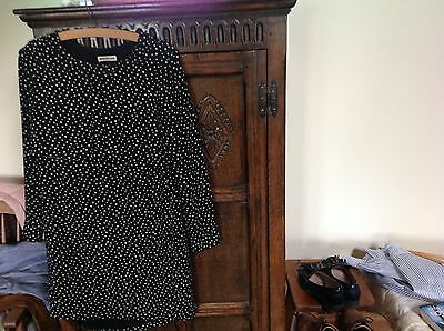 Womens dress Whistles size 6 real silk black white vgc