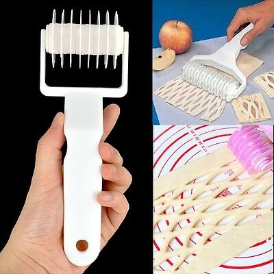 Small Size Plastic Baking Tool Cookie Pie Pizza Pastry Lattice Roller Cutter New
