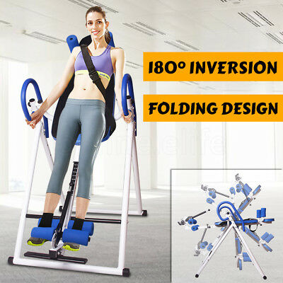 NEW 180° Inversion Table Gravity Folding Upside Down Relieve Back Pain Home Gym